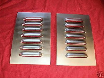1 Pair Straight Louvered Panel Rat Rod Hood,7 louvers by Rodlouvers