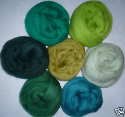 "7 colors Dark Pastel Wool roving ~ 50/""ea Spring Easter spin felt needle wet soap"