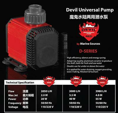 Marine Sources D-Series Submersible / Immersible Aquarium Fish Tank Pump