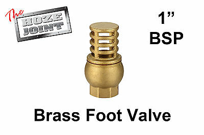 "Foot Valve - 1"" (25mm) BSP Female Thread - Brass - Strainer"