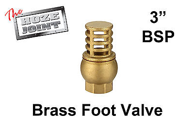 "Foot Valve - 3"" (80mm) BSP Female Thread - Brass - Strainer"