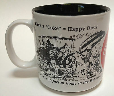 1994 Coca-Cola Coffee Mug Cup 1943-1944 Newspaper Advertisement Repro High Sign