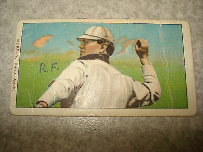 1909 -1911 T206 Danny Murphy Throwing Piedmont Back RARE Tobacco Card Vintage