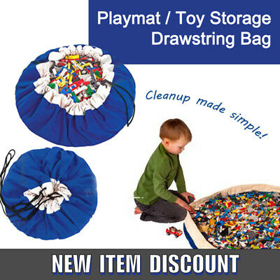 Canvas Lego Playmat & Toy Storage Drawstring Bag ( All-In-One )Extra Large 150cm