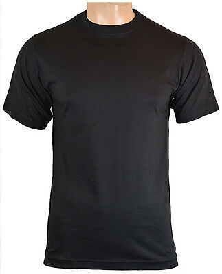 US Style BDU T-Shirt - Black 100% Cotton Army Military Top New All Sizes