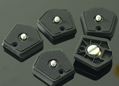"5pcs Manfrotto 785PL quick release Plate 1/4""-20 screw fr manfrotto tripod camea"