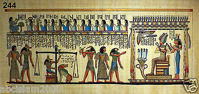 "Egyptian Papyrus HandMade Painting,size 90x185cm (36""x74"") Judgement Day#244"