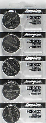 Button Cell: 5 PCS 3.0 V CR-2032 Lithium Batteries By Energizer
