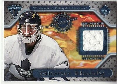 2001-02 Pacific Private Stock Titanium # 145 Glenn Healey  Game-Used Jersey