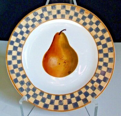 """BLOCK - Indonesia - Country Orchard by Gear 1995 salad plate -Pear-7 3/4"""" across"""