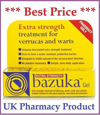 Bazuka Extra strength Gel treatment for verrucas and warts - 5g ***Best Price***