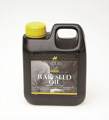 Lincoln Omega Gold Rapeseed Oil - Horse Pony Supplements - 1 litre