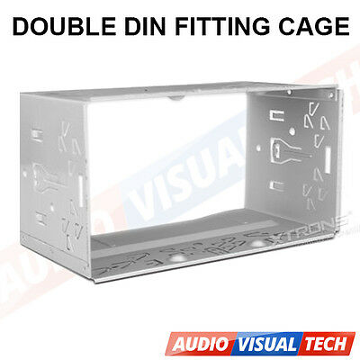 XTRONS Universal Double 2Din Fitting Cage Kit  Radio Headunit Car Install Keys