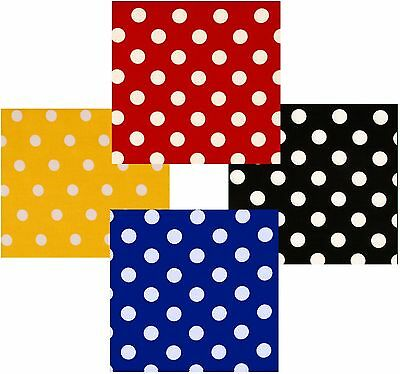 a8ec4bd488200 Polka Dot Poly Cotton Check Table Cloth Cover - Red Black Royal-Blue Yellow  Etc