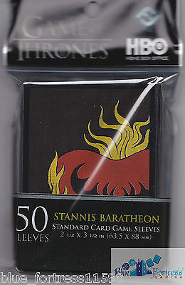 STANNIS BARATHEON CARD SLEEVES DECK PROTECTORS A GAME OF THRONES MTG WoW