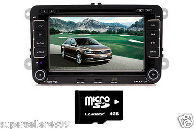 "VW Passat Jetta Golf Tiguan GPS iPod TV BT 2DIN Car  7""HD LCD Stereo DVD Player"