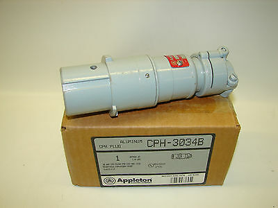 *NEW* Appleton CPH-3034B  30 Amp, 3 Wire, 4 Pole, 3 Phase Plug Explosion Proof