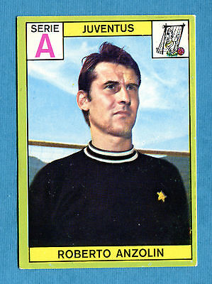 New CALCIATORI PANINI 1968-69-Figurina-Sticker - ANZOLIN - JUVENTUS - Nuova