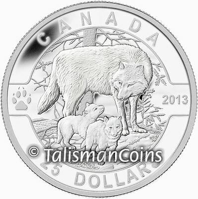 Canada 2013 O Canada Mother Wolf & Baby Cubs $25 1 Oz Pure Silver Proof Full OGP