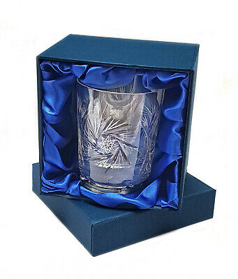 FINEST QUALITY 280ml HAND CUT WHISKY TUMBLER 24% Lead Crystal Glass LUXURY BOXED
