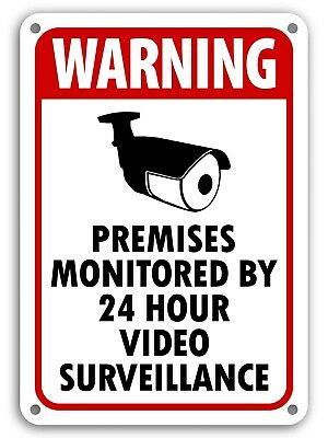 SECURITY SURVEILLANCE SIGNS Sign burglar- robber- thief video warning