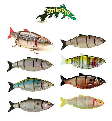 """STRIKE PRO GILL RAKER SWIMBAIT WITH SPARE TAIL 4 1/2"""" (11.5 CM) various colors"""