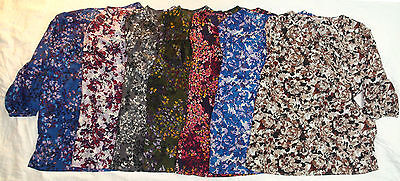 New White Stag - Women's peasant blouse floral and leaf design various colors