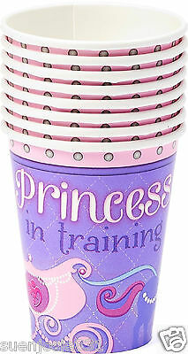 Disney Sofia the First 9oz Hot Cold Paper Cups 8pcs Party Supplies