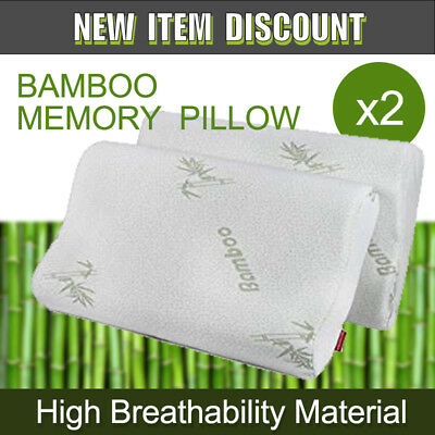 Two Decorative Cute Bamboo Contour Pillow Memory Foam Fabric Fibre Cover 50 x 30