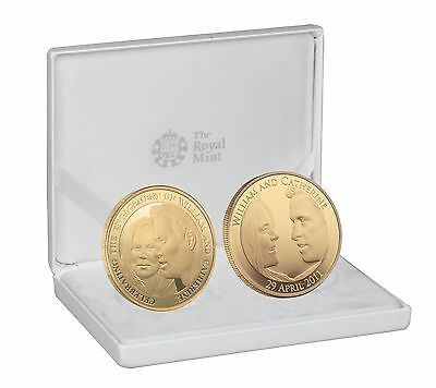 Royal Wedding & Engagement Fine Gold Plated Silver Two Coin Set– RW11SPL2