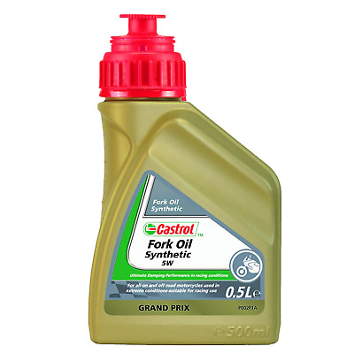 Castrol Fork Oil 5W Fully Synthetic Suspension Fork Fluid - 500ml