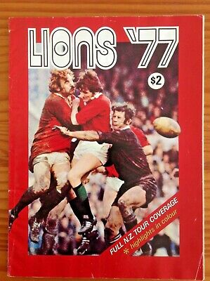 Lions 77 British Lions 1977 Post Rugby Tour Brochure