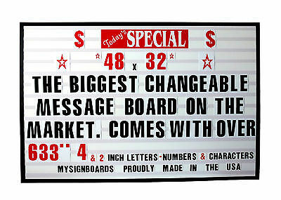 NEW CHANGEABLE LETTERS WINDOW MESSAGE MENU BOARD PRICE SIGN NIB
