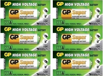6 Pcs 23AE 12V Remote Control Devices Alkaline Batteries GP 21/23 A23 MN21 23GA