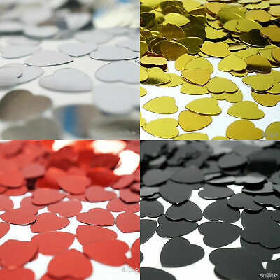 Heart Table Scatters 25 grams Foil Confetti Party Wedding Decorations