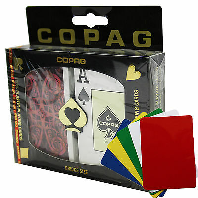 COPAG Aldrava Plastic Playing Cards Bridge Size, Jumbo Index,  Red Blue, Gift