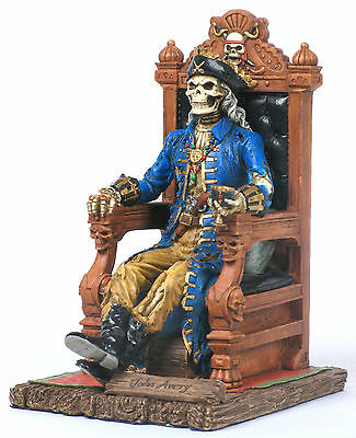 John Avery Pirate Statue/Figurine/Book End Poly Resin 7.5 inches Tall