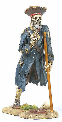 Captain Silver Pirate Statue/Figurine Poly Resin 7 inches Tall
