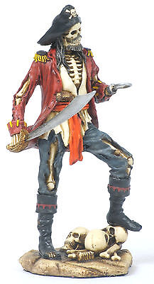 Captain Hook Pirate Statue/Figurine Poly Resin 7 inches Tall