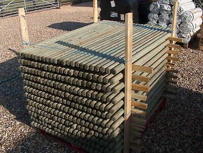 20 X WOODEN TREATED FENCE POSTS OR TREE STAKES 1 2m (4ft) x