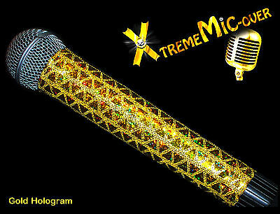 MICROPHONE COVER (Xtreme MICover) GOLD SPARKLE MIC COVER FOR CORDLESS MICROPHONE