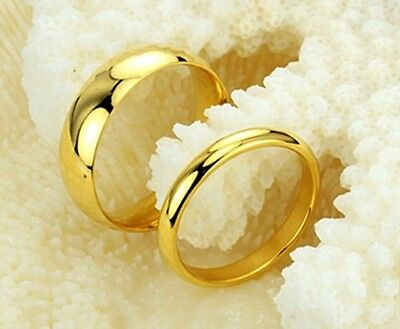 JZ014 Fashion Gold-plated Titanium Steel Ring Wedding Lover gift