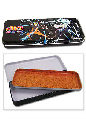 *new* Naruto Shippuden Naruto Vs. Sasuke Tin Pencil Case