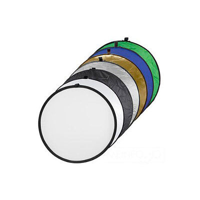 """New Phottix 7 in 1 Light Multi Collapsible Handheld Reflector 32"""" Reflector 80cm"""