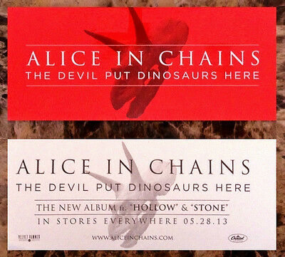 ALICE IN CHAINS The Devil Put Dinosaurs Here Ltd Ed RARE Sticker +FREE Stickers!