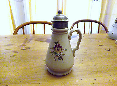 Knowles Taylor & Knowles Ironstone China Syrup Pitcher 8 Inches Tall