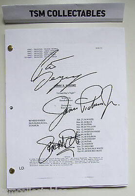 GREY'S ANATOMY autographed script Patrick DEMPSEY James PICKENS Sandra OH signed