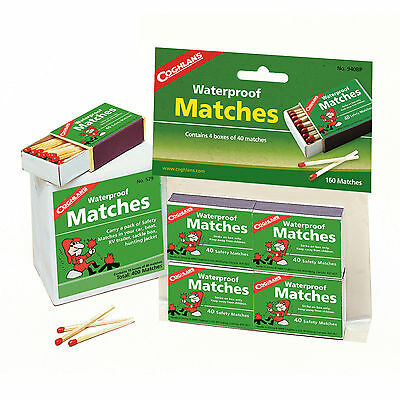 Coghlan's Waterproof Matches #529 10 Boxes 40 Matches per Box 400 Ct Total