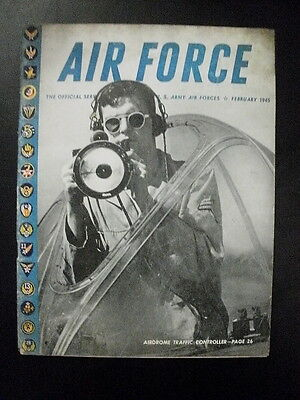 rivista aeronautica AIR FORCE feb 1945/The Care and Briefing of Fighter Pilots