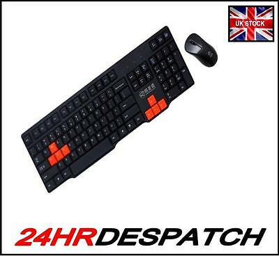 Usb Black Gaming Office Keyboard & Mouse Combo For Desktop Laptop Pc Mac